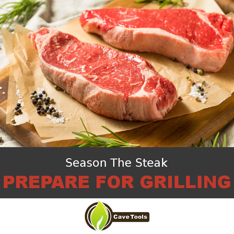 Season The Steak Prepare For Grilling