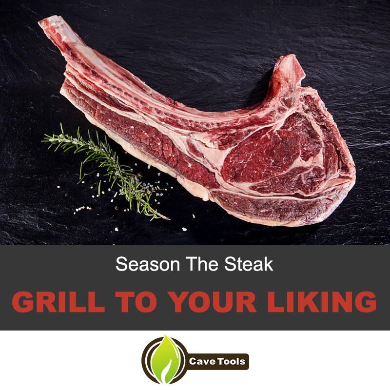Season and grill the steak
