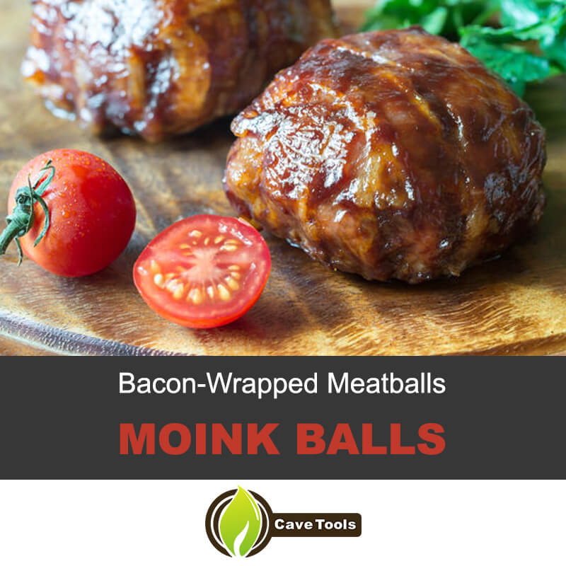 Bacon-wrapped moink balls