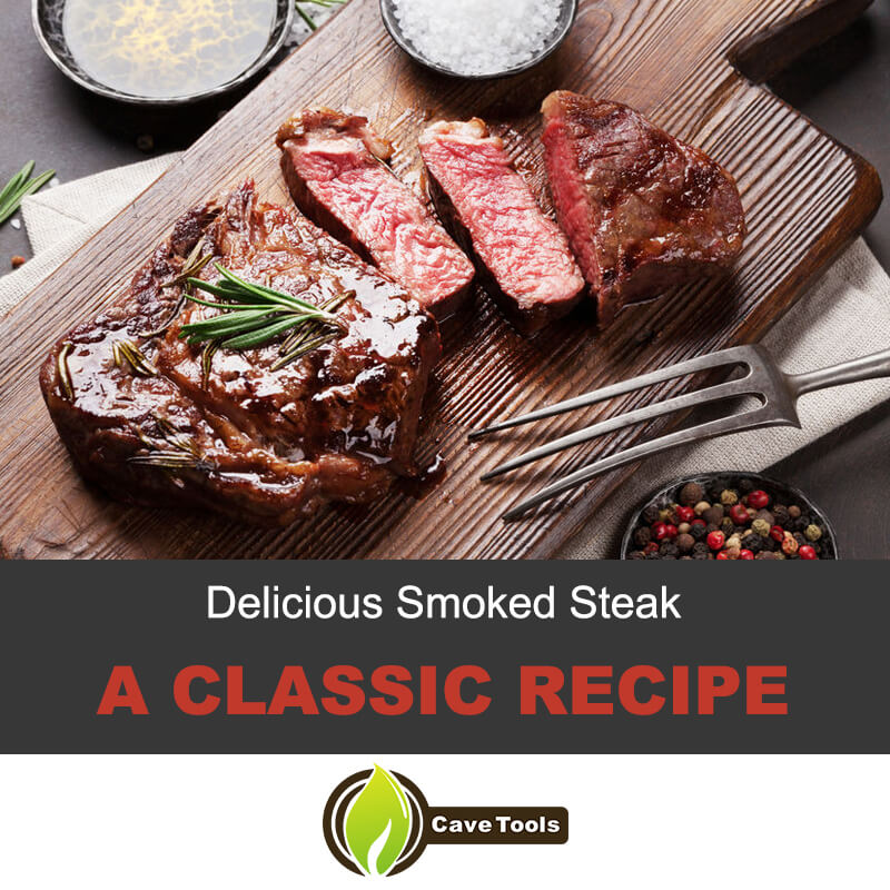 A classic recipe for smoked steak