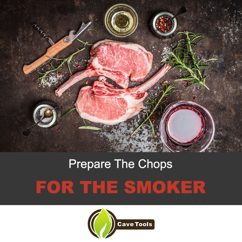 Prepare the chops for the smoker