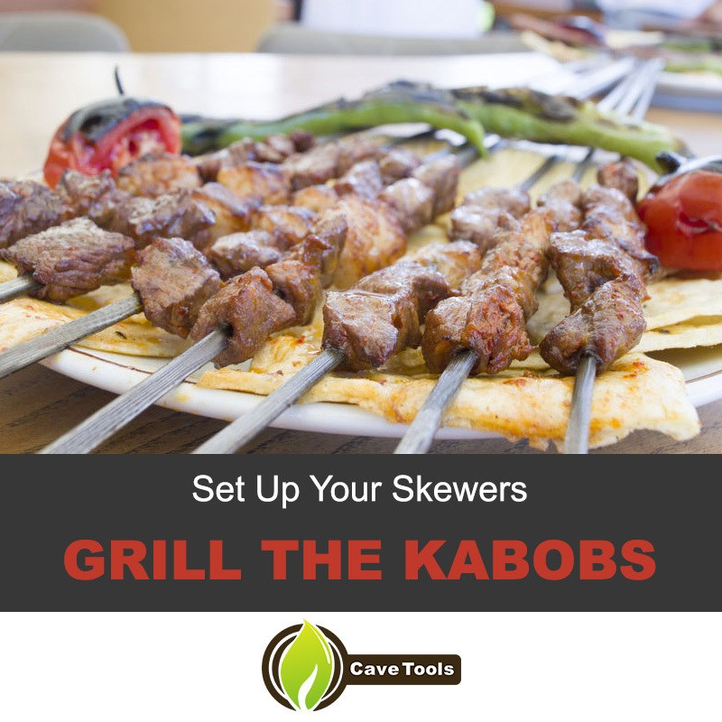 Grill the kabobs