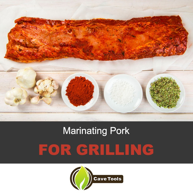 Marinating pork for grilling