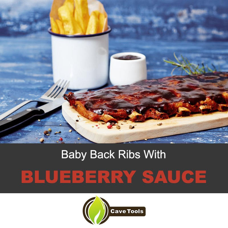 Baby back ribs with blueberry sauce