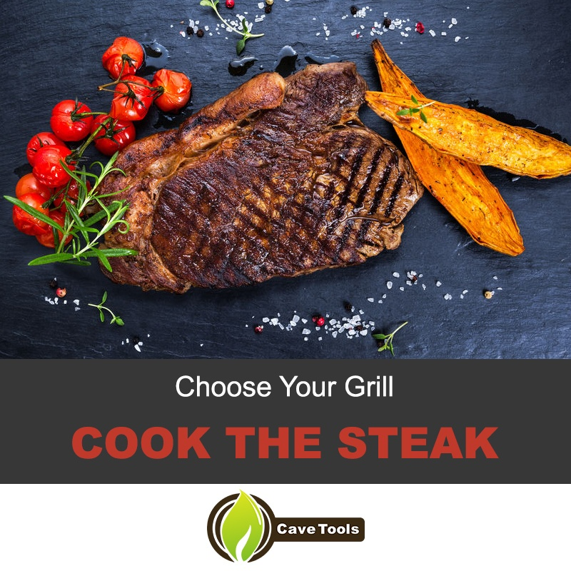 Cook the steak on the grill