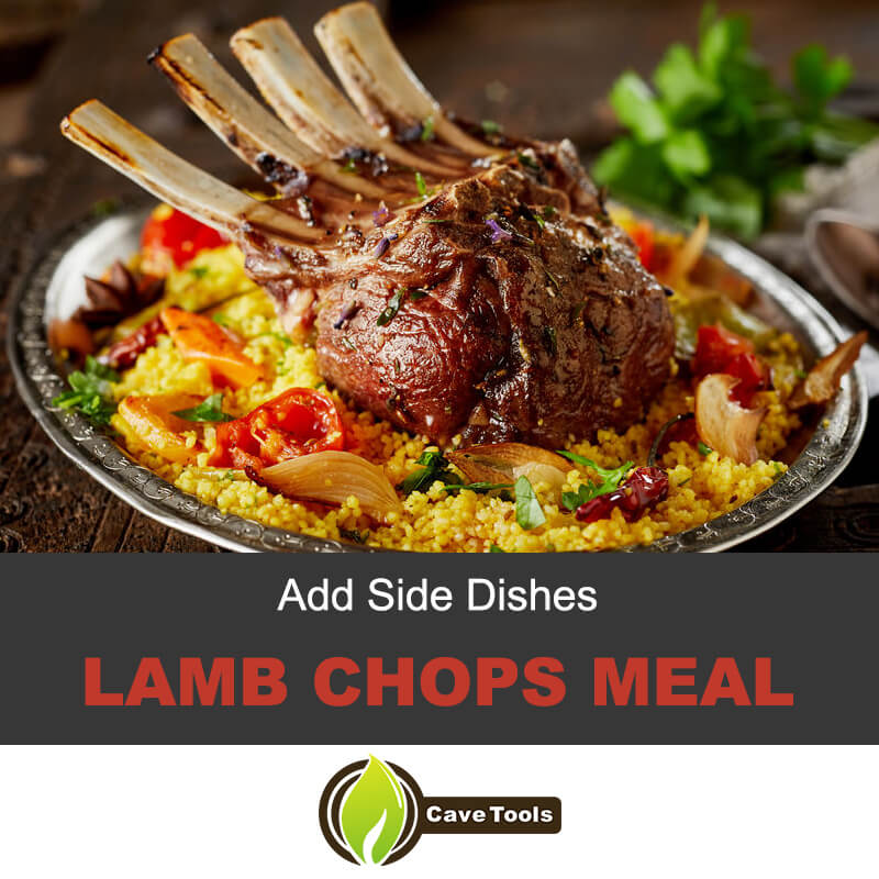 Lamb chops meal