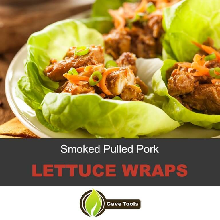 Smoked Pulled Pork Lettuce Wraps
