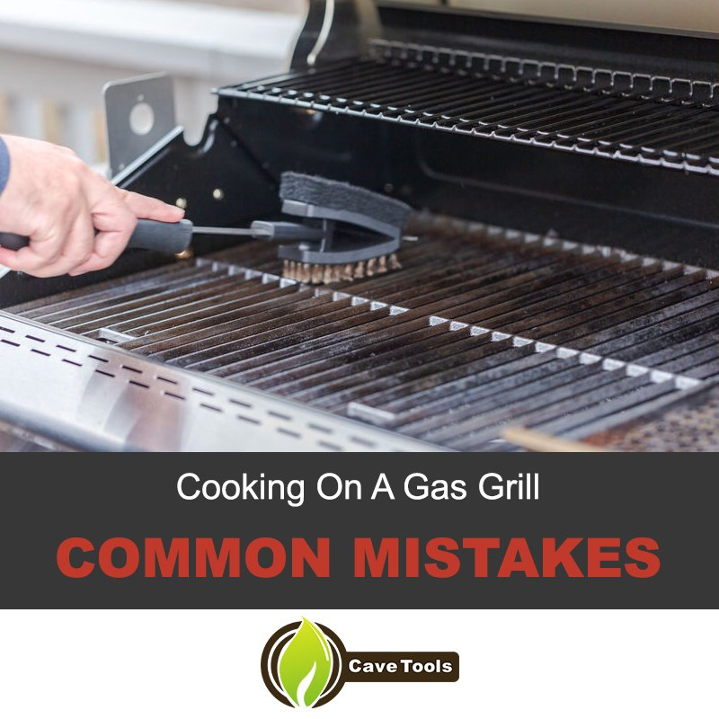 Cooking on a gas grill