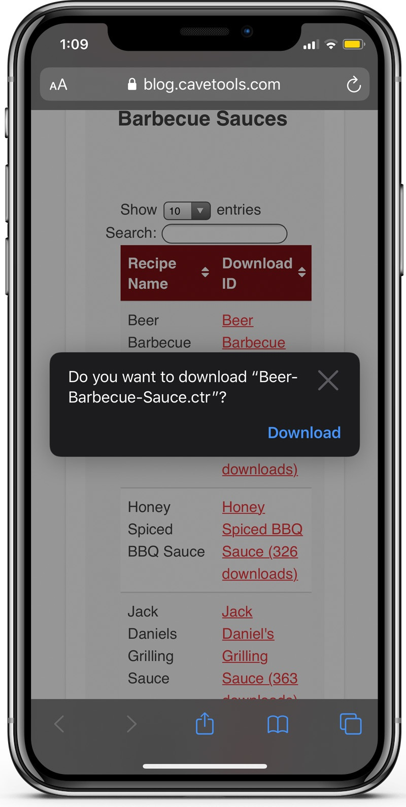 grilling recipes iphone app